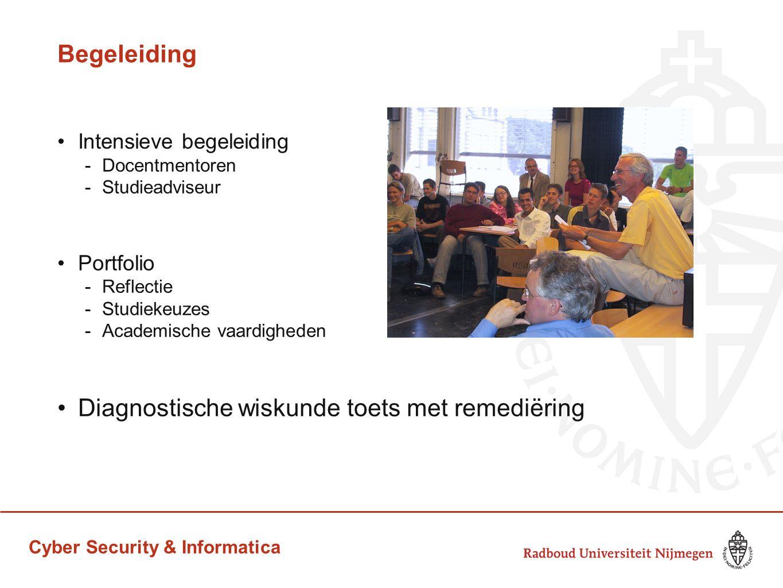 Cyber Security & Informatica Begeleiding Intensieve begeleiding -Docentmentoren -Studieadviseur Portfolio -Reflectie -Studiekeuzes -Academische vaardi