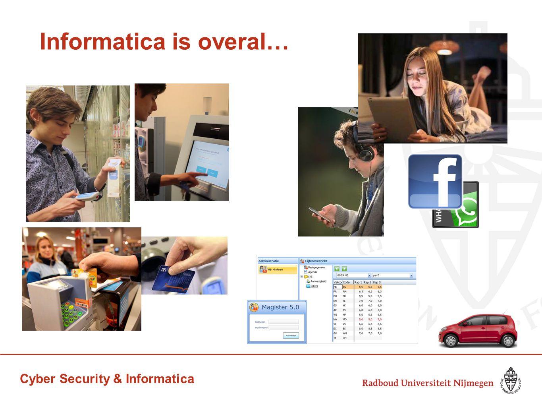 Cyber Security & Informatica Toenemende afhankelijkheid van ICT Maatschappij steeds afhankelijker van ICT & internet social networks internet bankieren online winkelen administratie van vrijwel alle bedrijven en overheidsinstellingen...
