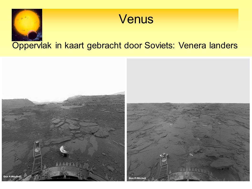 Venus Oppervlak in kaart gebracht door Soviets: Venera landers