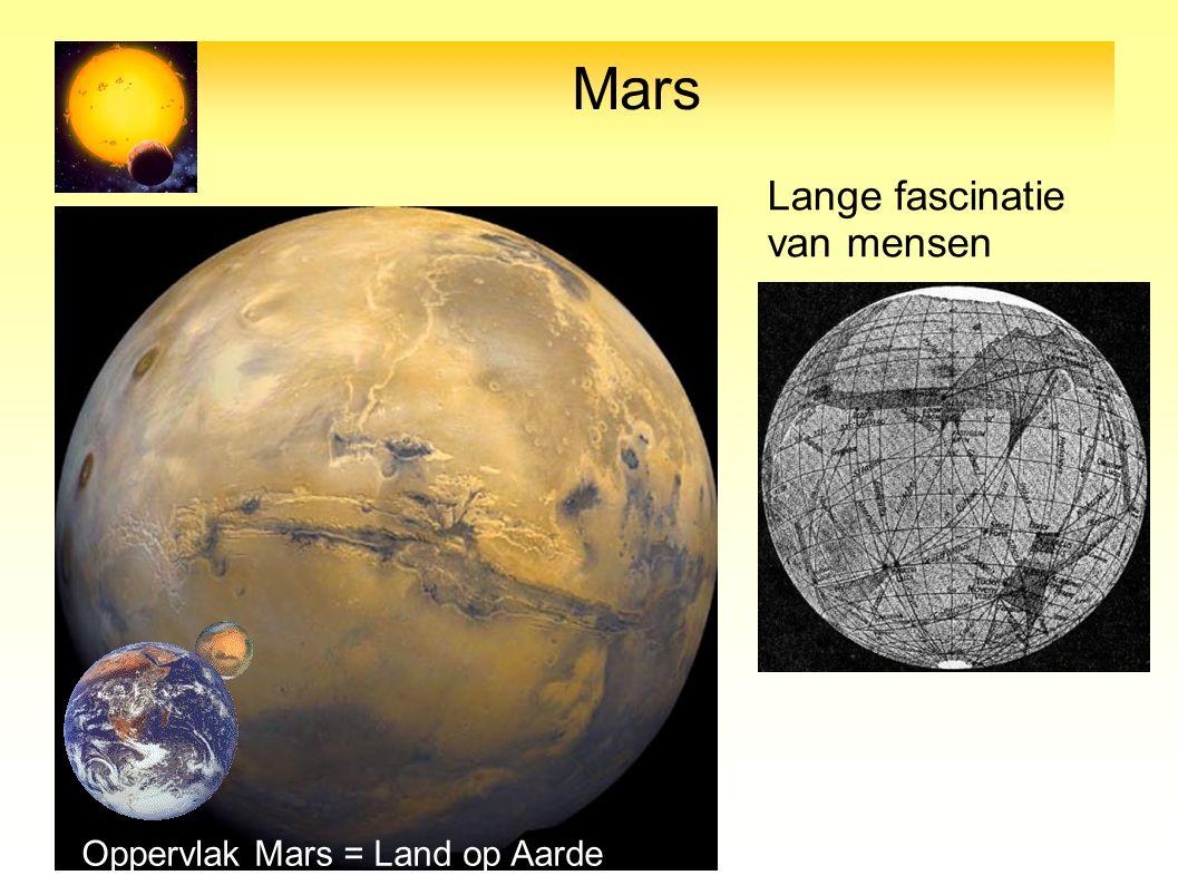 Mars Oppervlak Mars = Land op Aarde Lange fascinatie van mensen
