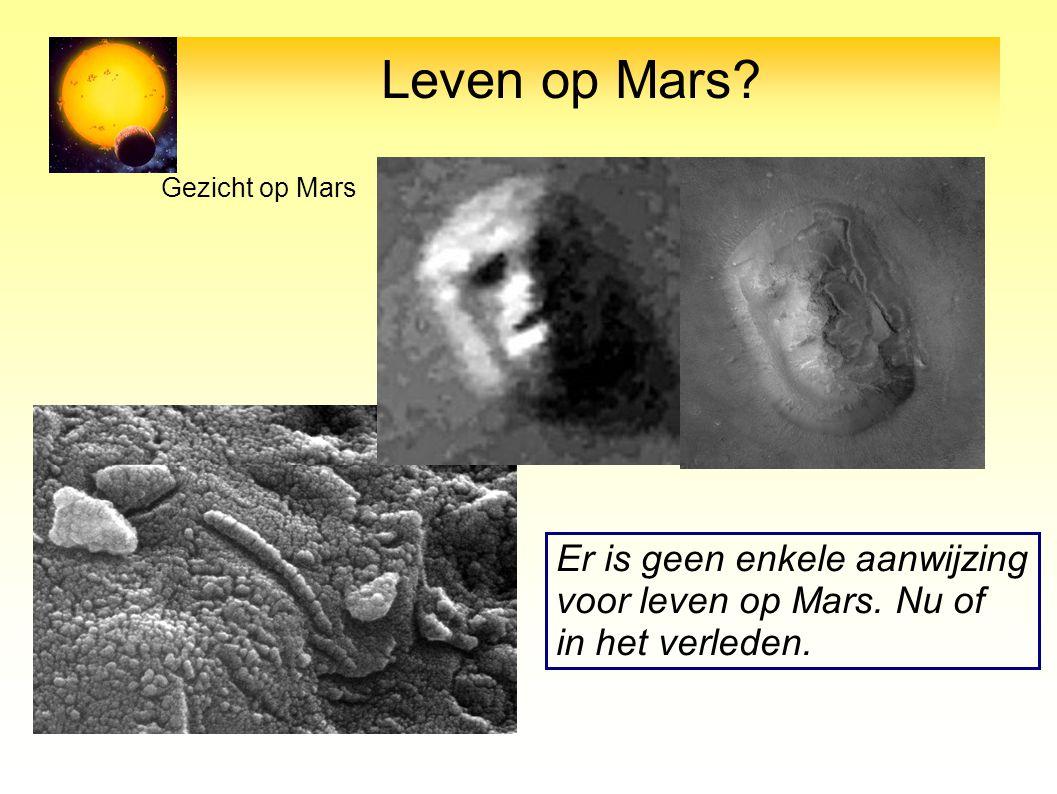 Leven op Mars? Gezicht op Mars Mars meteoriet Er is geen enkele aanwijzing voor leven op Mars. Nu of in het verleden.