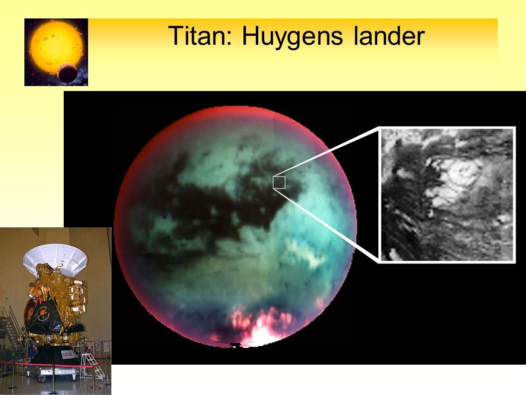 Titan: Huygens lander