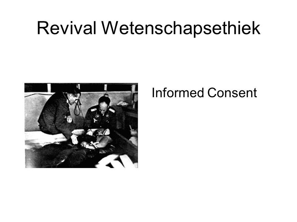 Revival Wetenschapsethiek Informed Consent