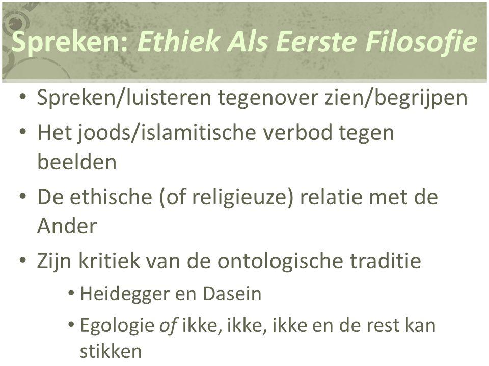 Panim: van aangezicht tot aangezicht Eerst gebruikt in 1952 Ethiek en Geest'.