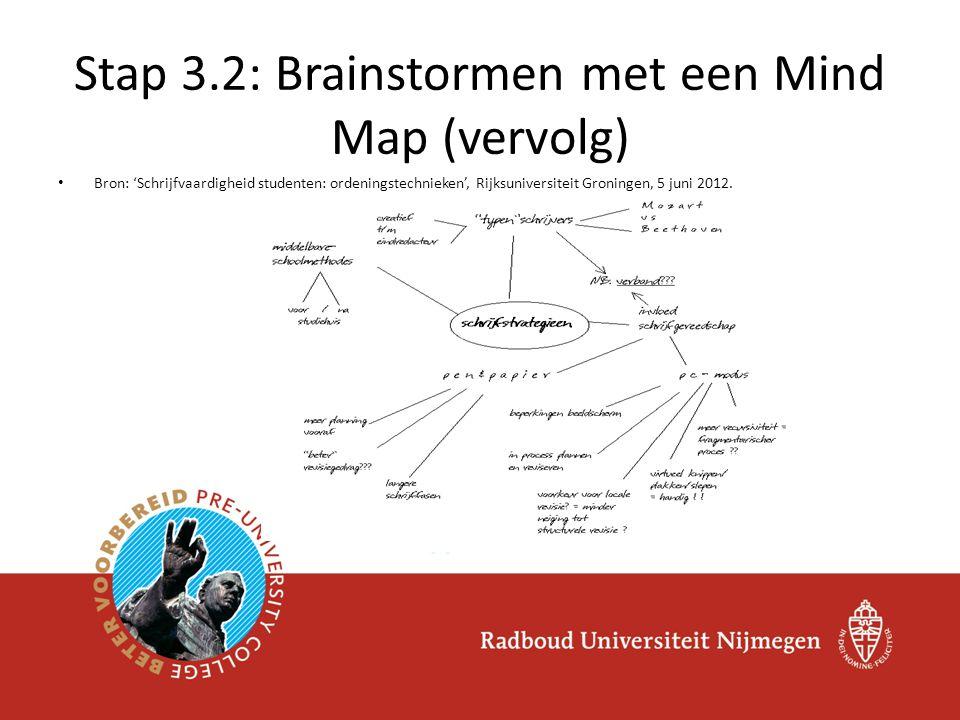 Bron: 'Schrijfvaardigheid studenten: ordeningstechnieken', Rijksuniversiteit Groningen, 5 juni 2012.