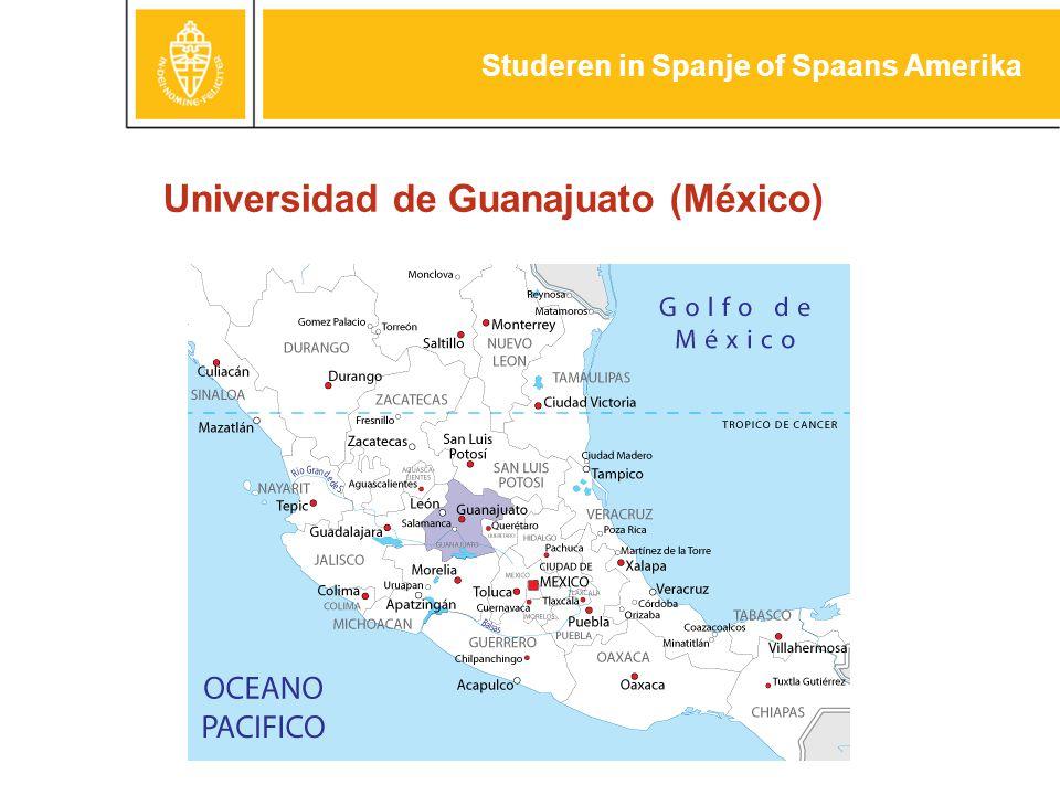 Universidad de Guanajuato (México) Studeren in Spanje of Spaans Amerika