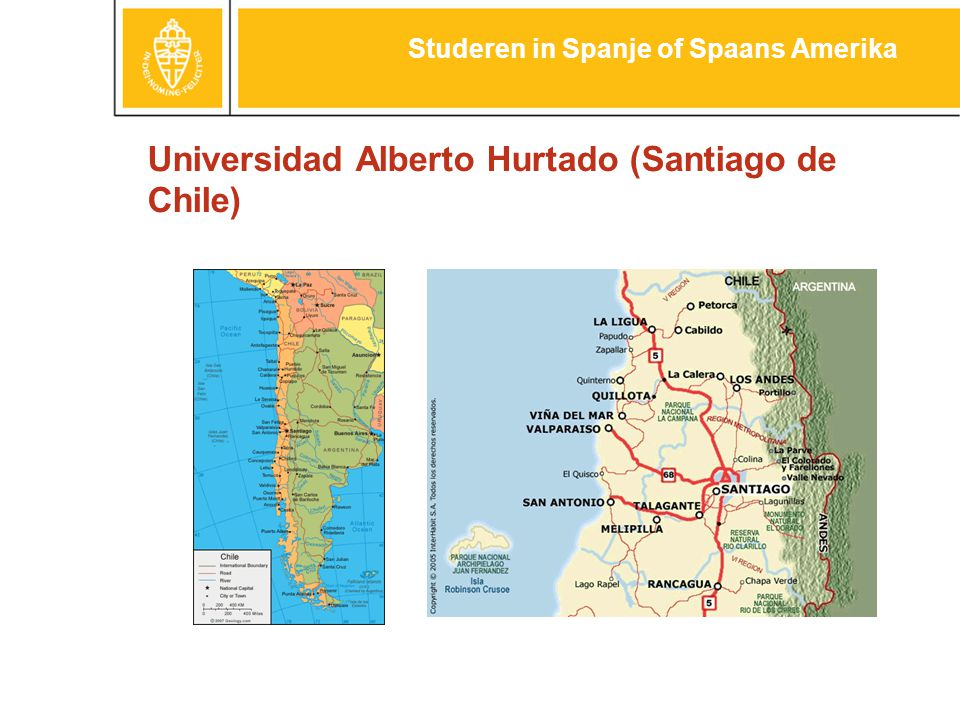 Universidad Alberto Hurtado (Santiago de Chile) Studeren in Spanje of Spaans Amerika