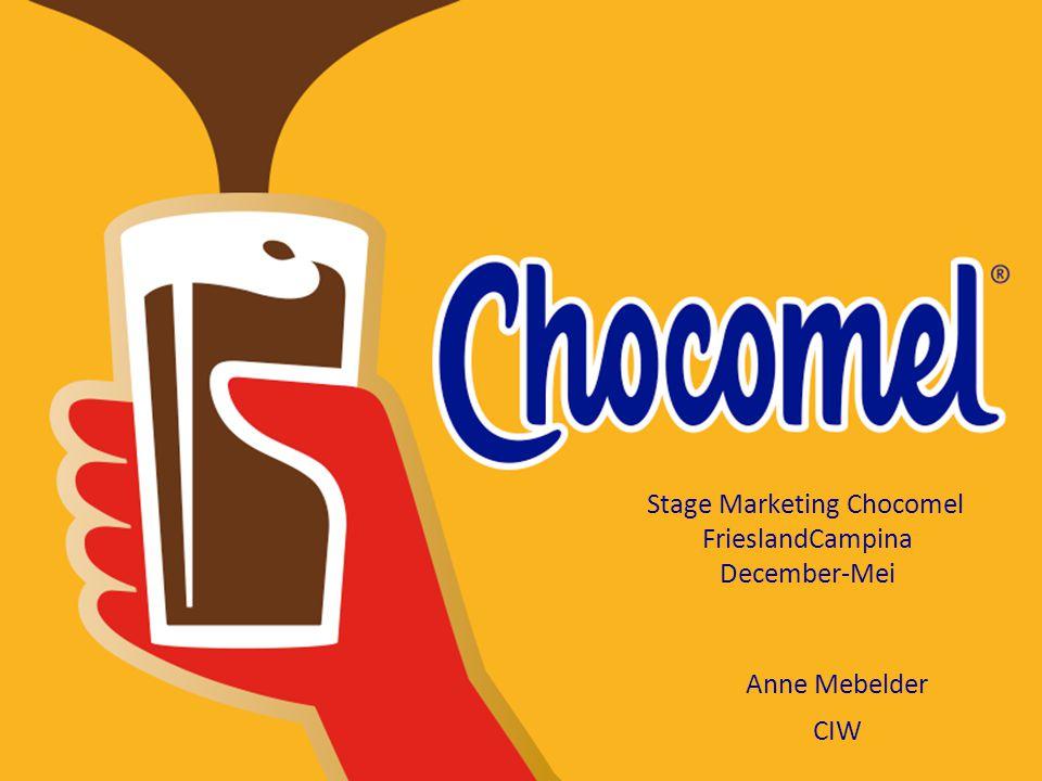 Stage Marketing Chocomel FrieslandCampina December-Mei Anne Mebelder CIW