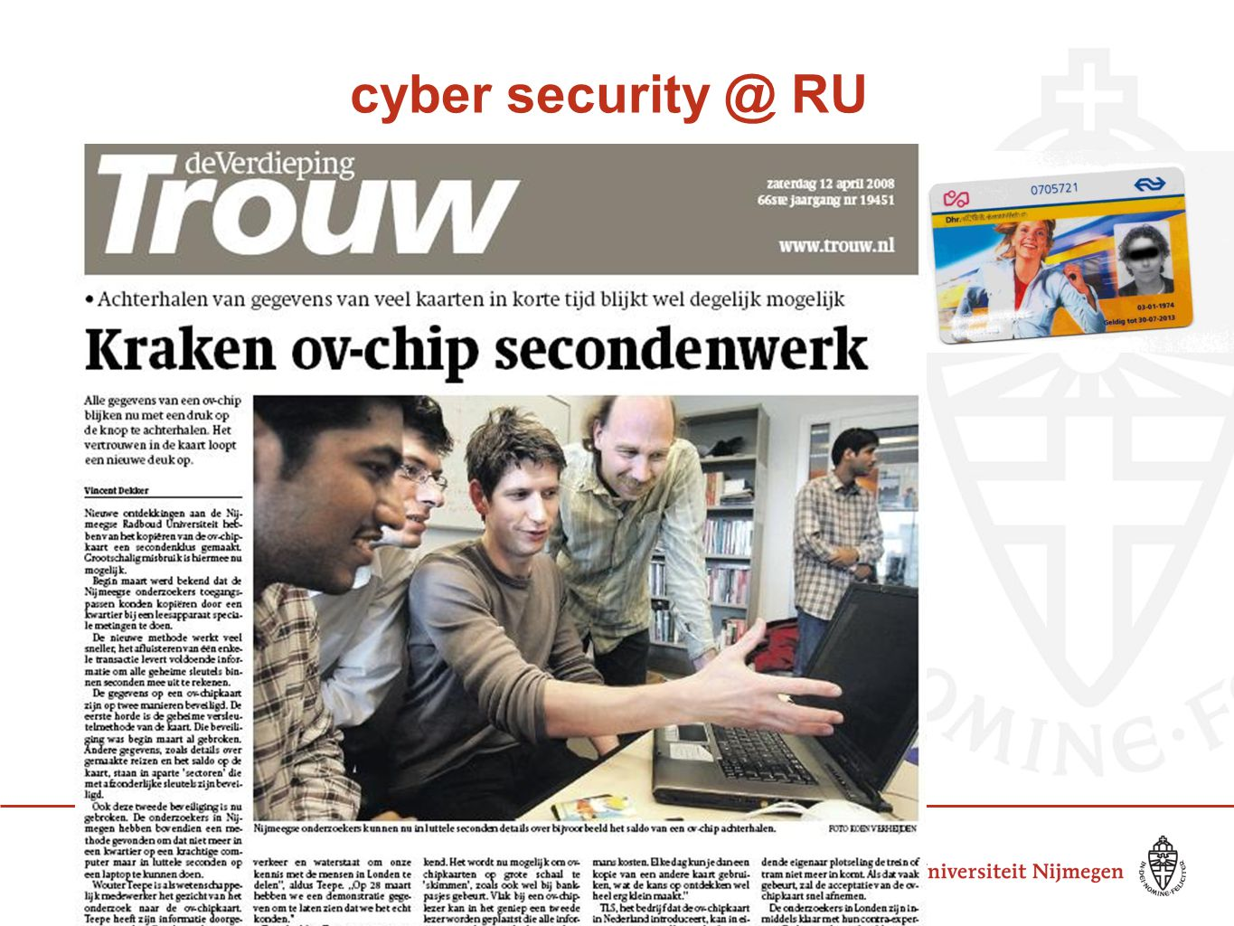 cyber security @ RU