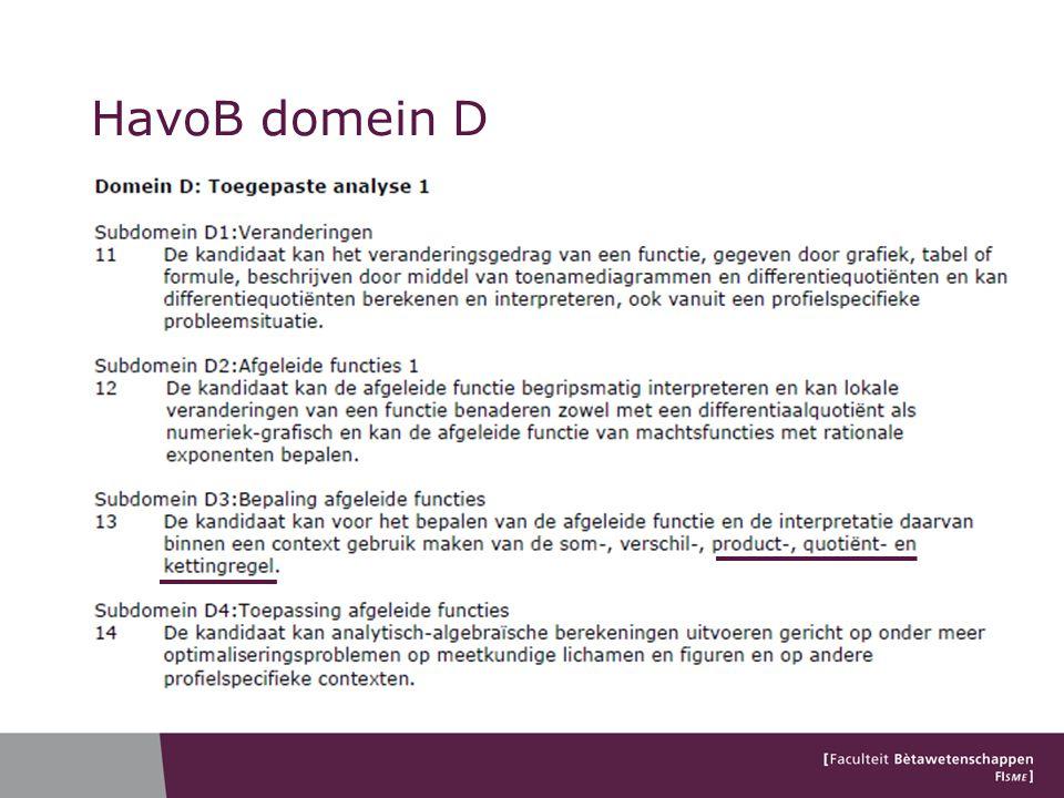 HavoB domein D