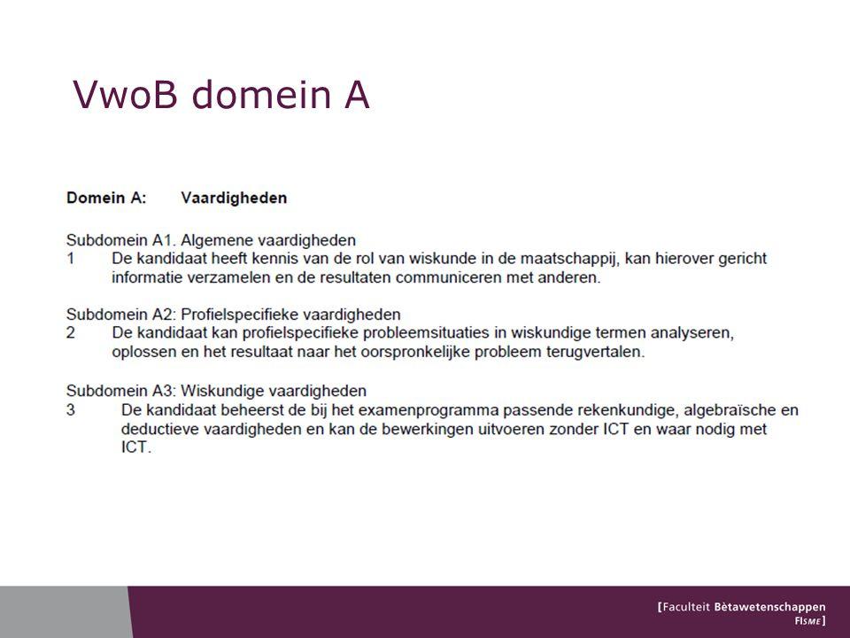 VwoB domein A