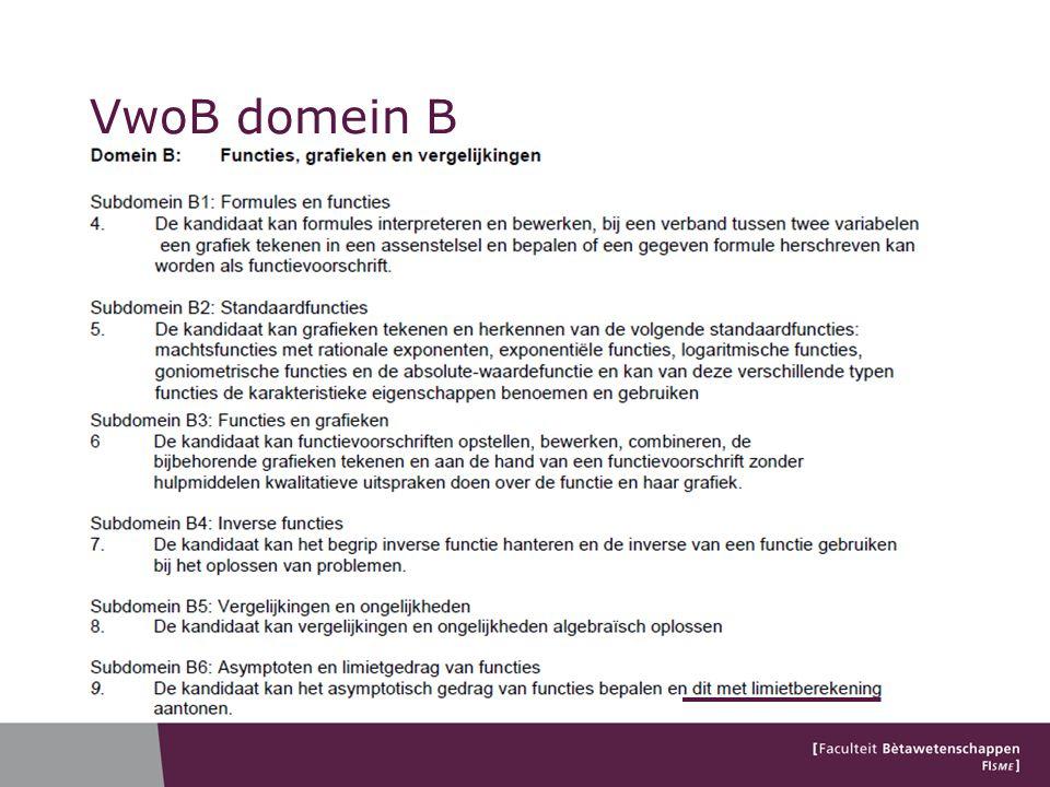 VwoB domein B