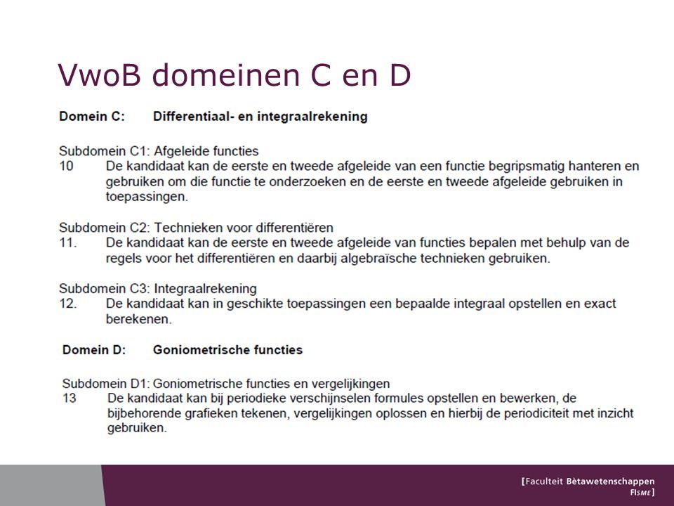 VwoB domeinen C en D