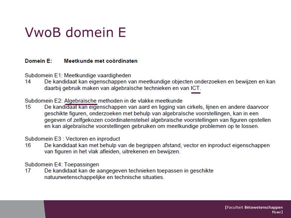 VwoB domein E