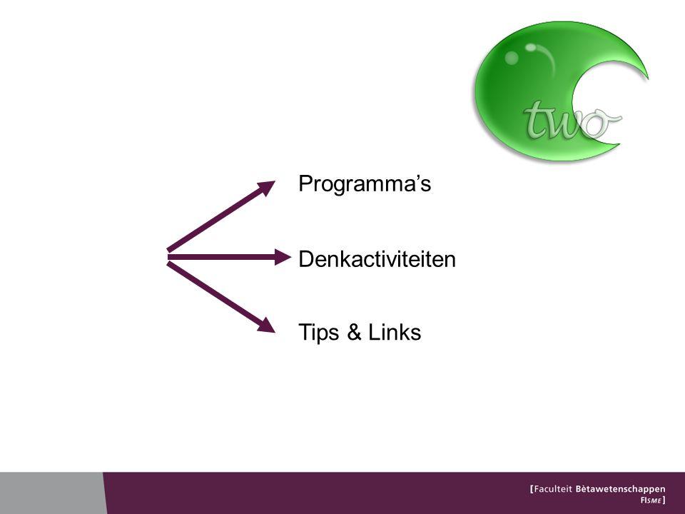 Programma's Denkactiviteiten Tips & Links