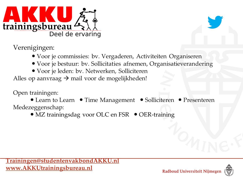 Verenigingen: ● Voor je commissies: bv. Vergaderen, Activiteiten Organiseren ● Voor je bestuur: bv.
