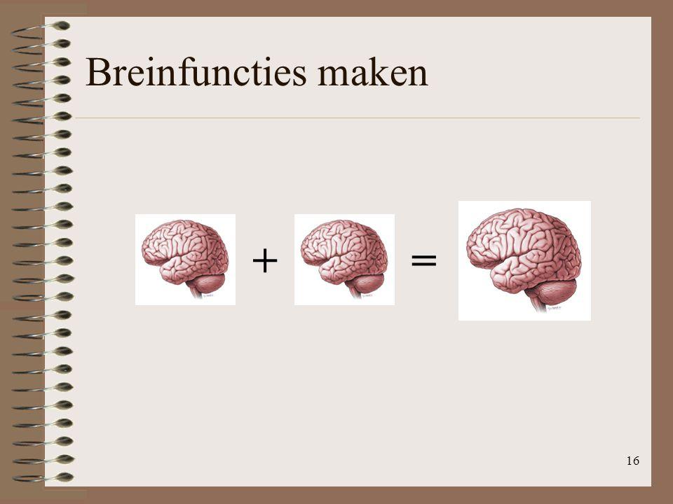 Breinfuncties maken 16 +=