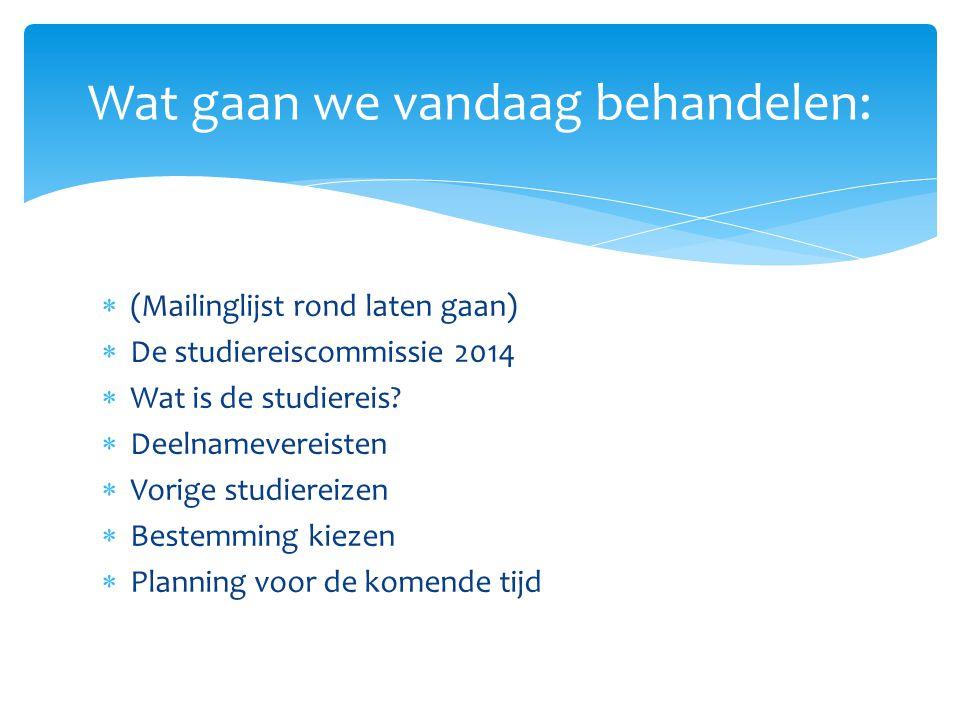  Email: studiereis2014@science.ru.nl De commissie