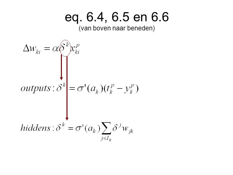 eq. 6.4, 6.5 en 6.6 (van boven naar beneden)