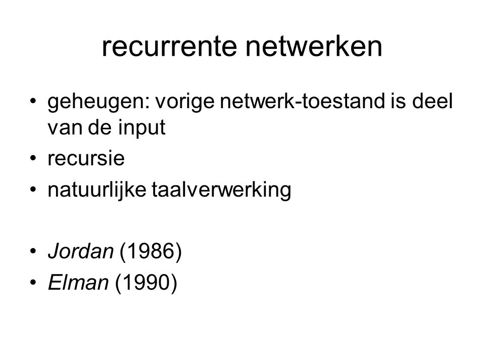 engineering toepassingen geen tentamenstof APPLICATION OF A RECURRENT NEURAL NETWORK IN ONLINE MODELLING OF REAL-TIME SYSTEMS Keywords: Recurrent Elman networks; modelling; on-line learning; real- time systems.