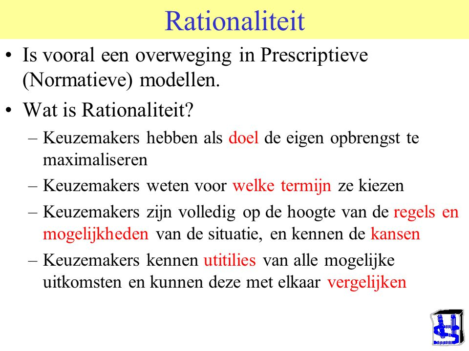 Steiners typologie anders gepresenteerd ADDITIVE COMPENSATORY DISJUNCTIVE CONJUNCTIVE DISCRETIONARY OPTIMIZING MAXIMIZING UNITARY DIVISIBLE ? ?