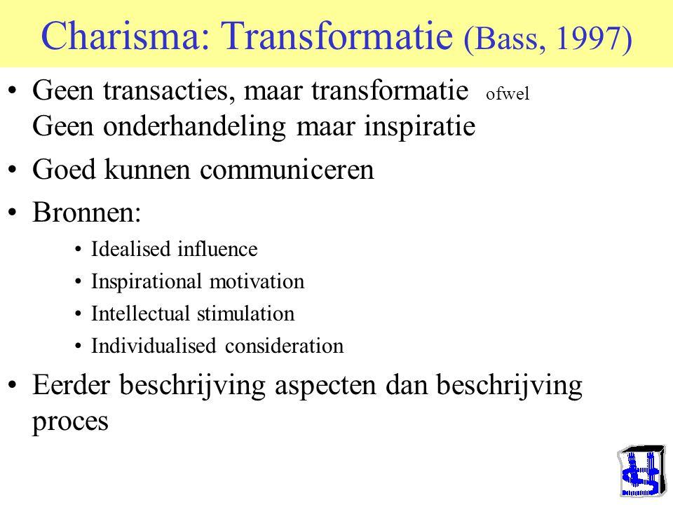 Charismatisch of transformationeel leiderschap. Freud's visie (1923) Basisidee –Mens heeft ingeboren sociale mechanismen –Deze komen helderst tot uiti