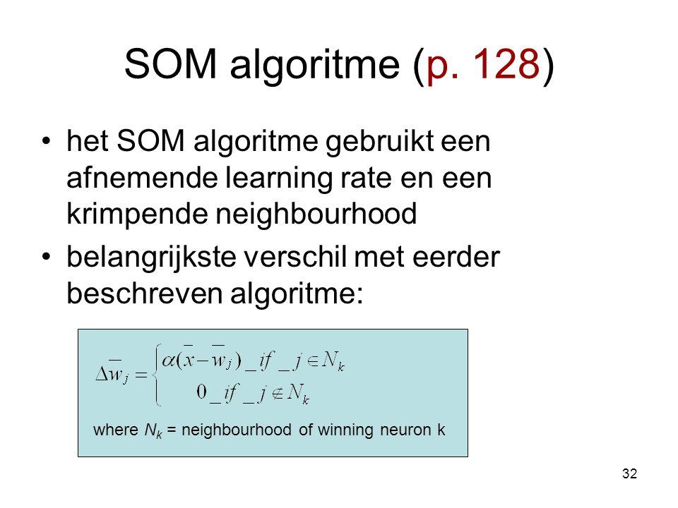 32 SOM algoritme (p.