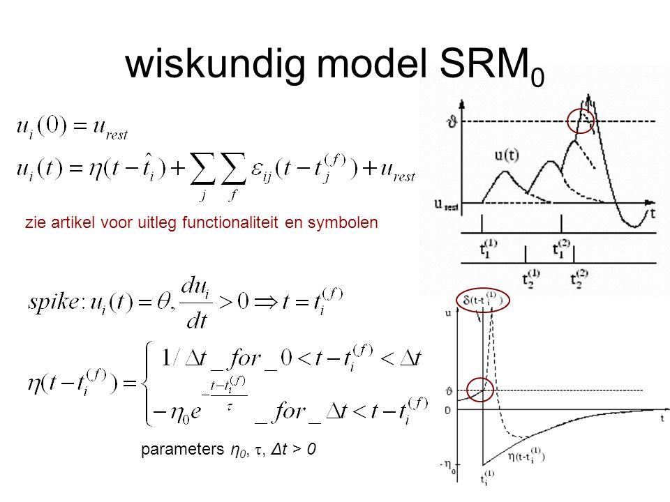 verschillende PSPs actie potentiaal (blauw) niet in goede proportie verschil in teken (IPSP, EPSP), verschil in hoogte verschil in lengte vertraging in modellen hebben alle PSPs vaak dezelfde vorm, rechthoekig of driehoekig meestal