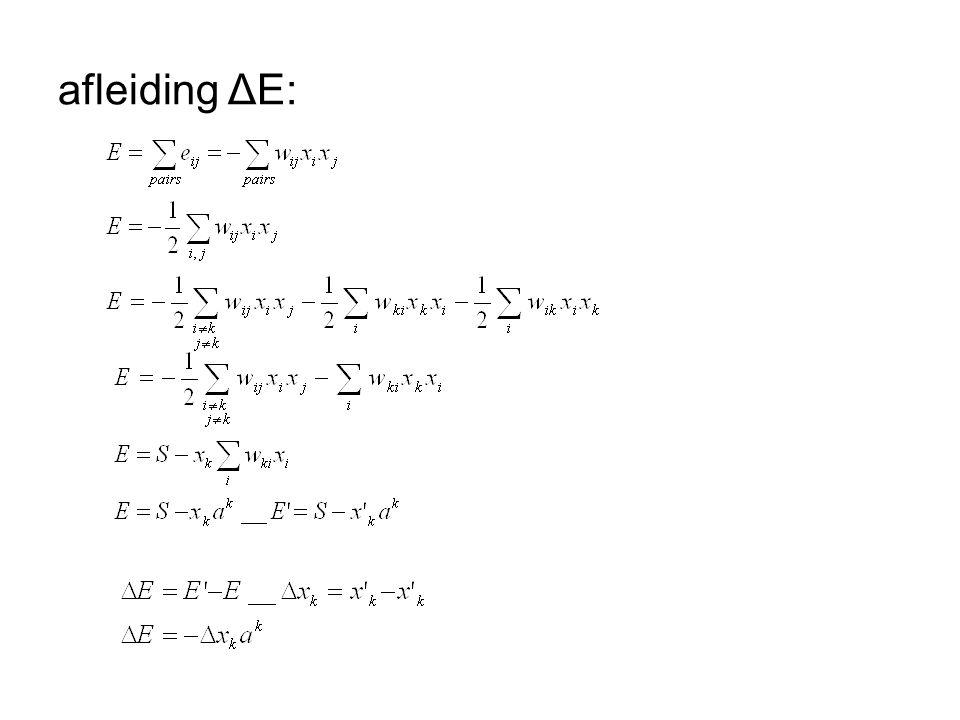 afleiding ΔE:
