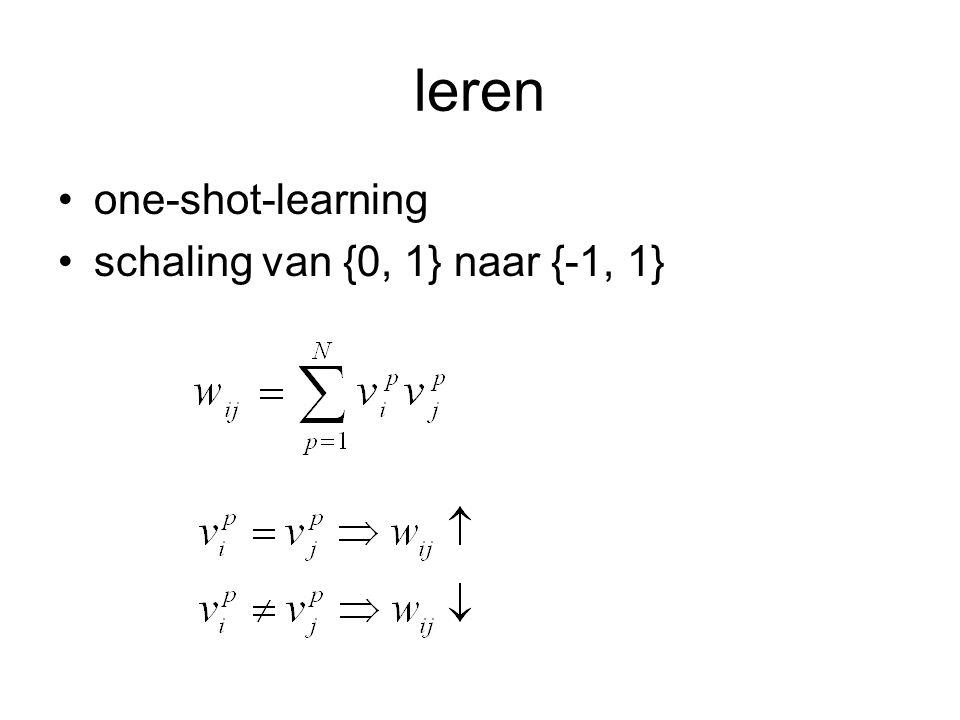 leren one-shot-learning schaling van {0, 1} naar {-1, 1}