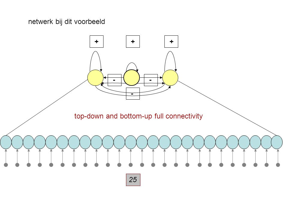netwerk bij dit voorbeeld + - - top-down and bottom-up full connectivity + + - 25