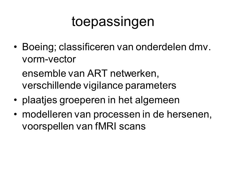 toepassingen Boeing; classificeren van onderdelen dmv.