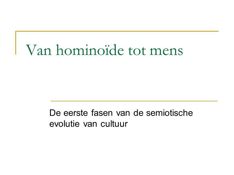 Van hominoïde tot mens De eerste fasen van de semiotische evolutie van cultuur
