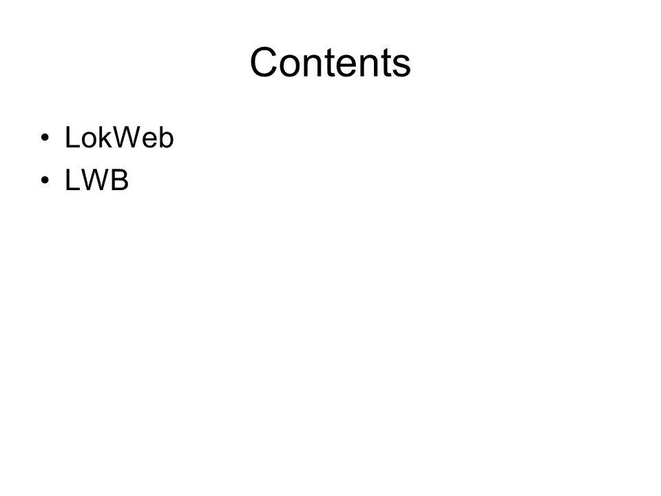 Contents LokWeb LWB