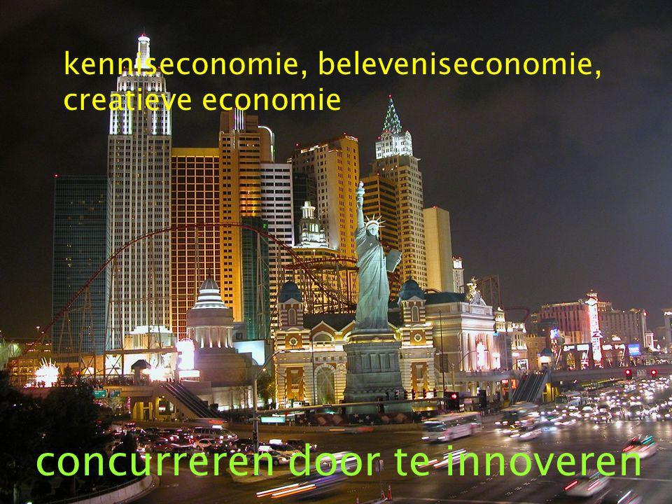 kenniseconomie, beleveniseconomie, creatieve economie concurreren door te innoveren