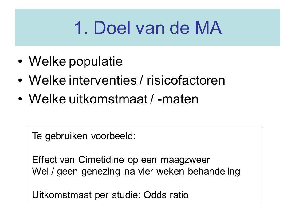 2.In- en exclusie van de artikelen Type onderzoek Jaar van onderzoek Randomisatie.