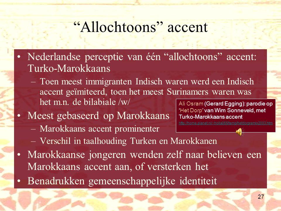 26 Het Nederlands van Marokkanen Farid: Temši [ga je] morgen uit wella [of].