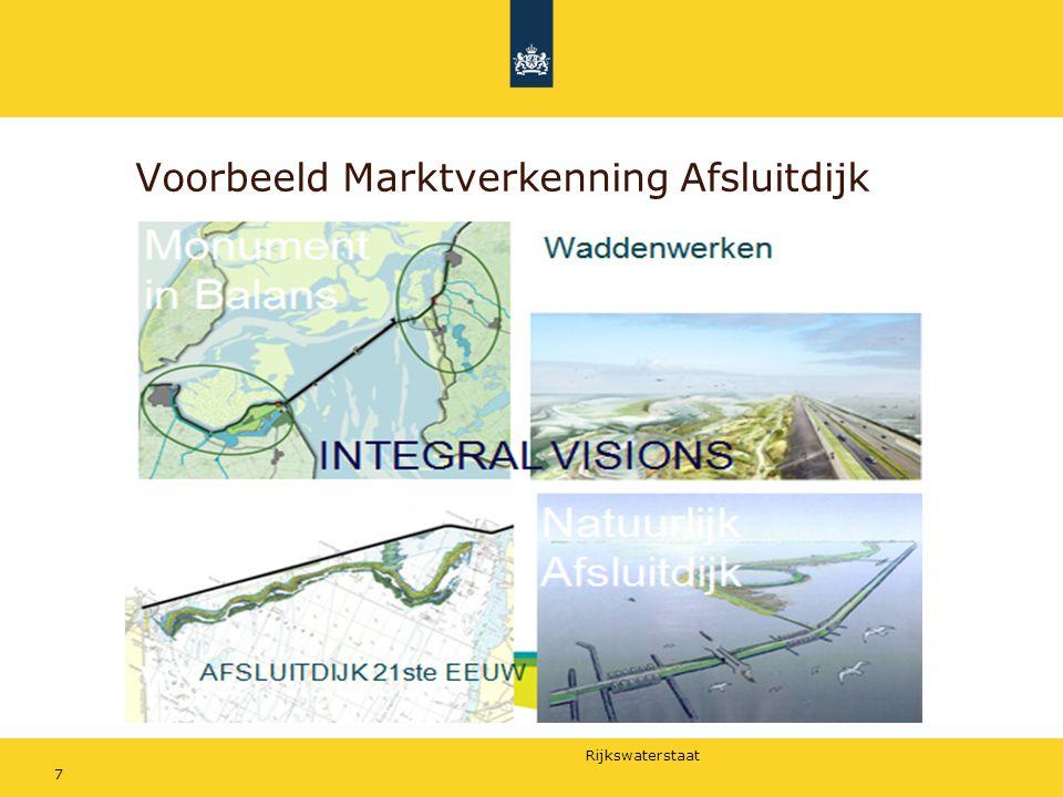 Rijkswaterstaat PPS essenties: Publiek-publiek samenwerking Publiek-private samenwerking Co-alignment van belangen Samenwerking ontstaat uit een wil niet een noodzaak Wil ontstaat uit het samen zoeken van kansen (win-win's), meer dan uit het oplossen van een probleem.