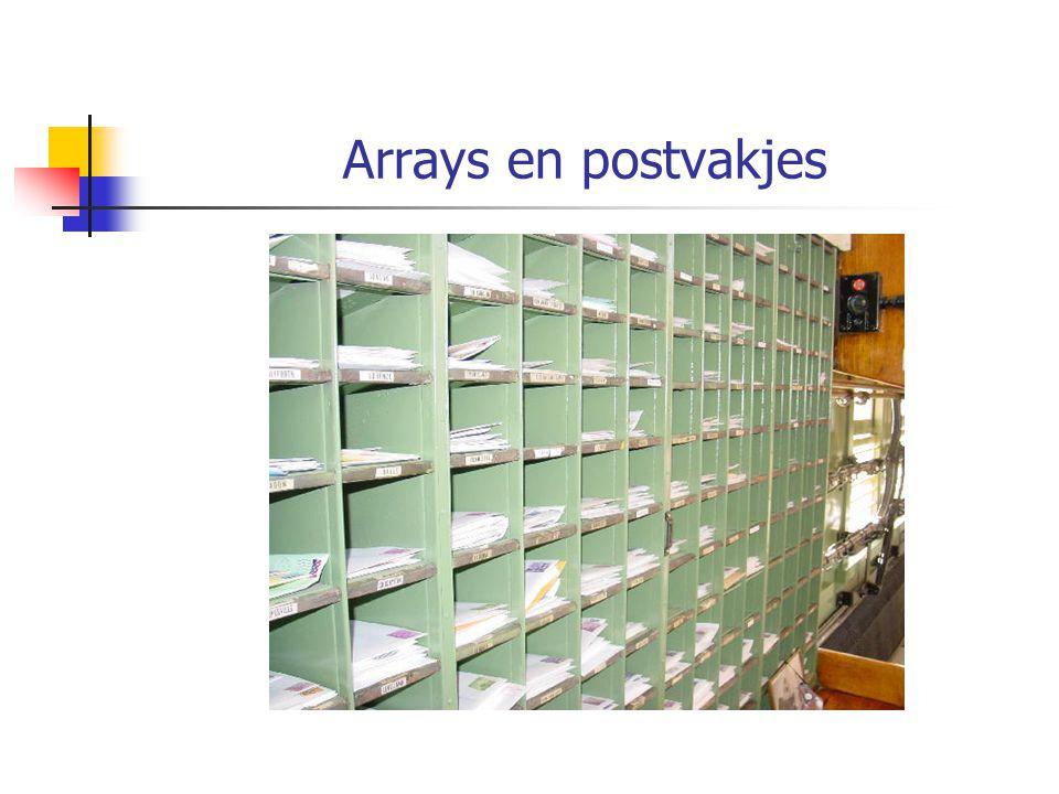 Arrays en postvakjes