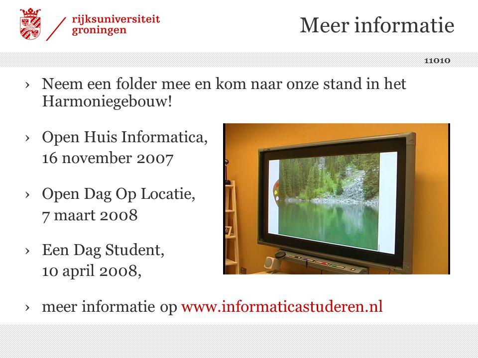 Meer informatie ›Neem een folder mee en kom naar onze stand in het Harmoniegebouw.