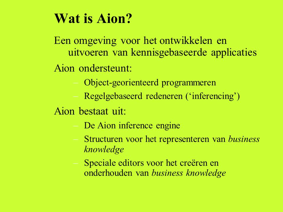 Wat is Aion.