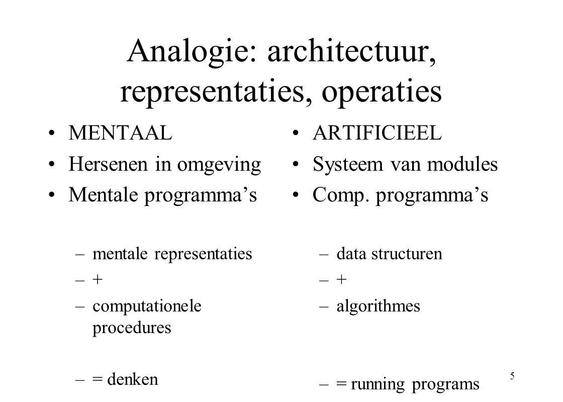 6 Gedragswetenschappen 3 onderscheidingen Menselijk (natuurlijk) en kunstmatig gedrag Primaire en secundair gedrag Formeel en computationeel modelleren