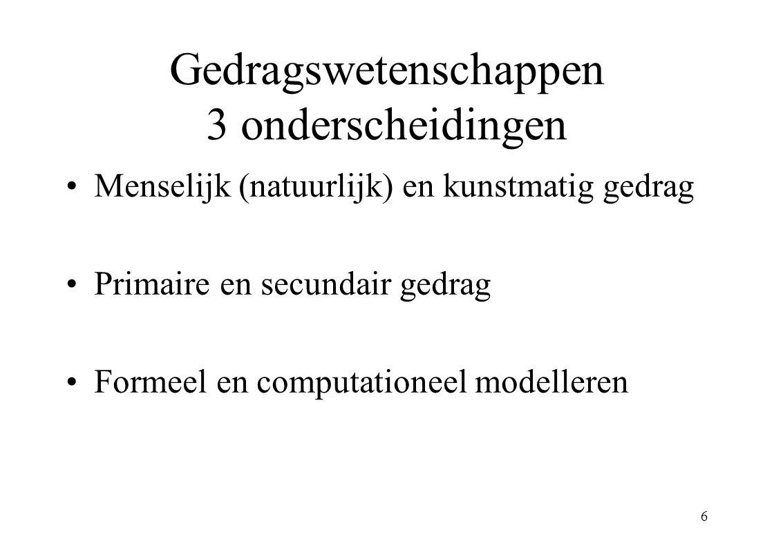 7 Nieuwe gebieden in de gedragswetenschappen computationele disciplines –comp.