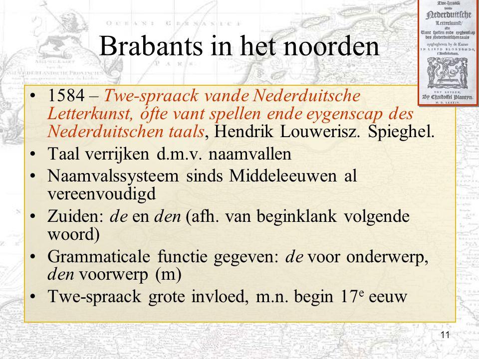11 Brabants in het noorden 1584 – Twe-spraack vande Nederduitsche Letterkunst, ófte vant spellen ende eygenscap des Nederduitschen taals, Hendrik Louw