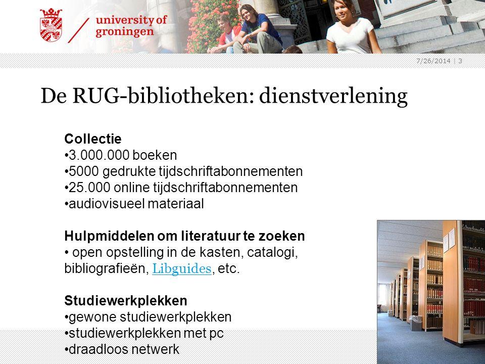 7/26/2014 | 4 Catalogus RUG voor het zoeken naar boek- en tijdschrifttitels Demonstratie