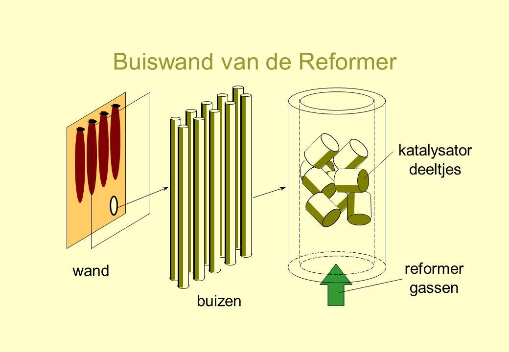 Buiswand van de Reformer wand buizen katalysator deeltjes reformer gassen