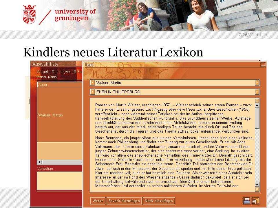 7/26/2014 | 11 Kindlers neues Literatur Lexikon Encyclopedie wereldliteratuur