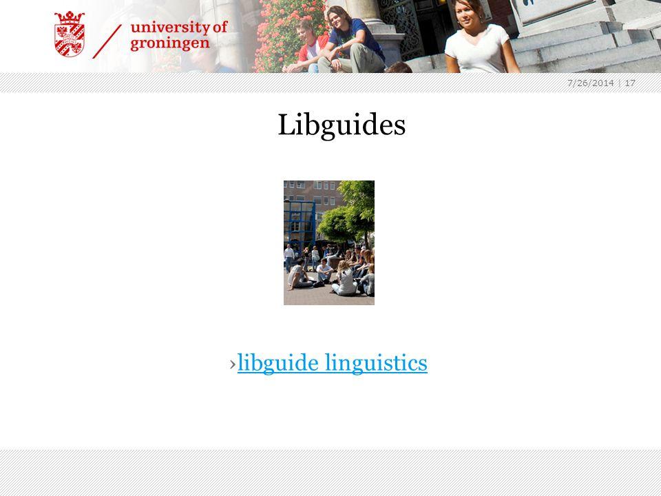 7/26/2014 | 17 Libguides ›libguide linguisticslibguide linguistics