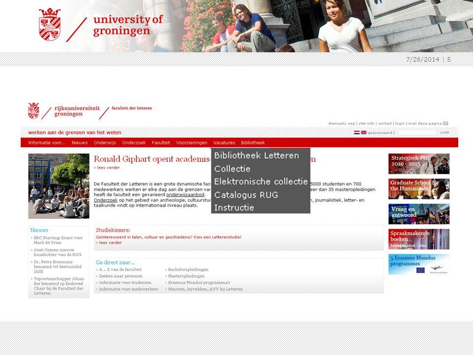 7/26/2014 | 16 Catalogus Trainingmodule link naar catalogus trainingmodule