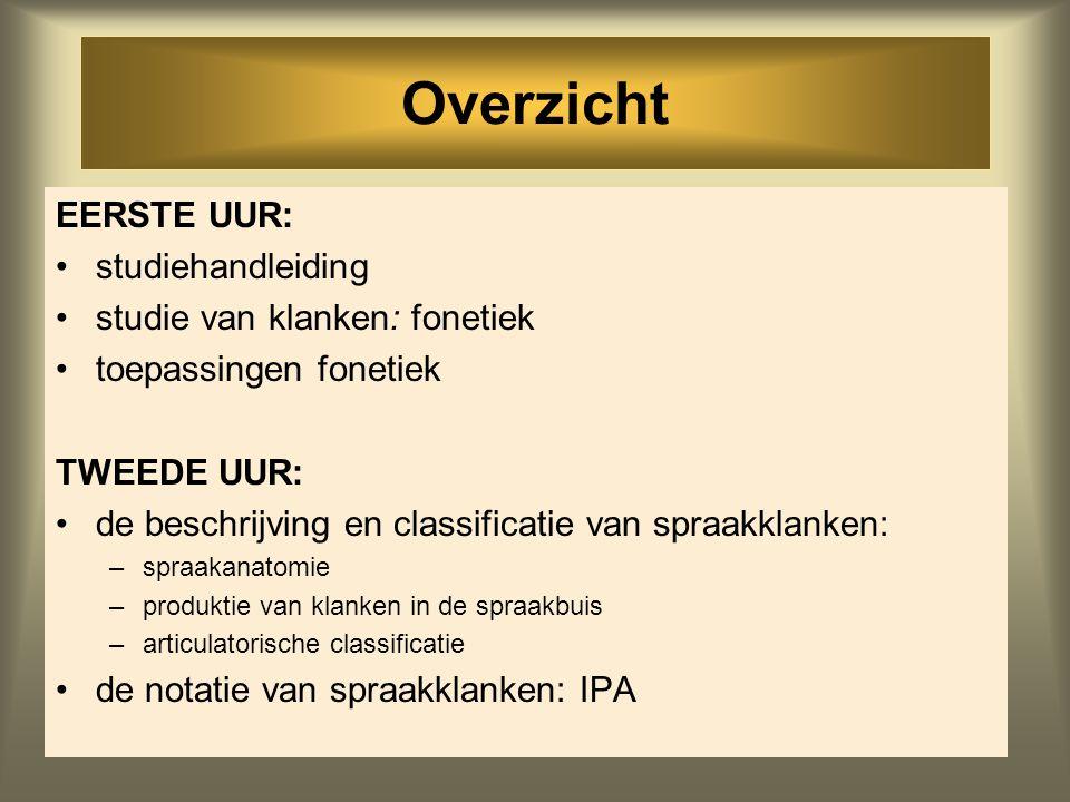 1 Inleiding in de Klankleer Dicky Gilbers spreekuur op afspraak d.g.gilbers@rug.nl Harmonie k. 1311-422 (050) 3635983